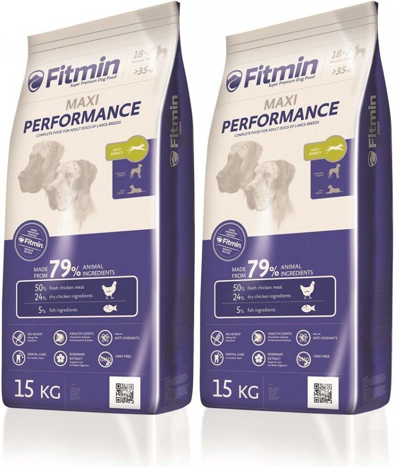 Fitmin Program Maxi Performance - karma dla psów dużych ras ze zwiększoną zawartością energii 2x15kg (30kg)