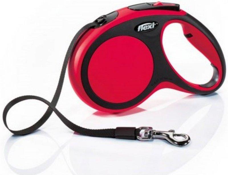 Flexi New Comfort M taśma 5m - czerwona