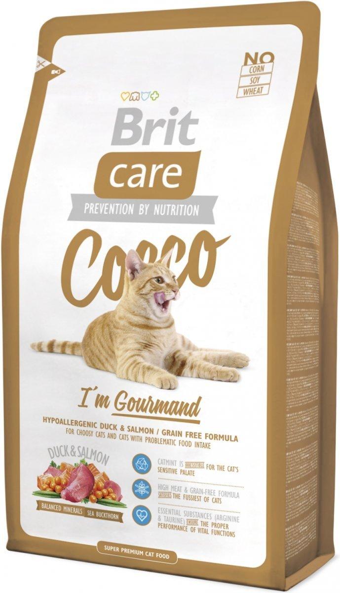 Brit Care Cat Cocco I'm Gourmand - Kaczka z łososiem 7kg