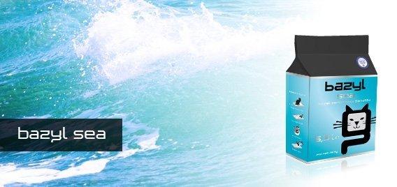 Bazyl Standard Sea 100% żwirek bentonitowy zbrylający o zapachu morskim 6x5,3l (31,8l)