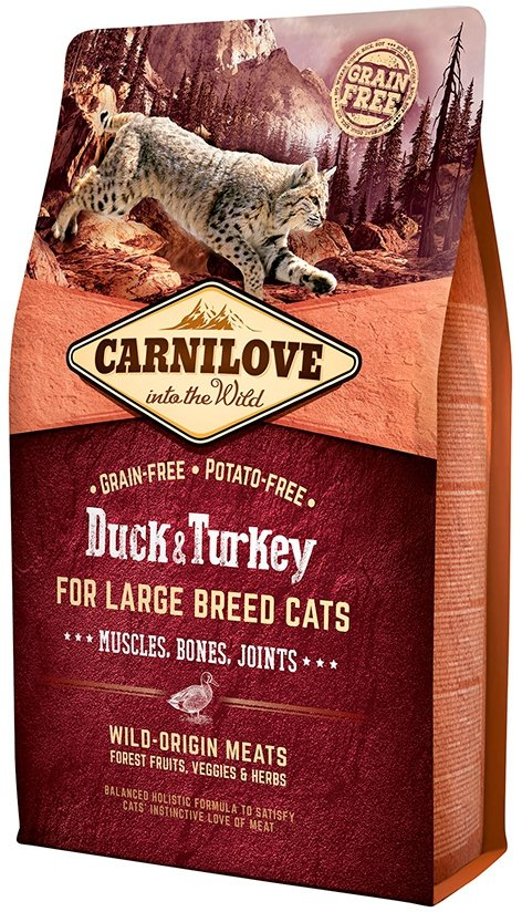 Carnilove Cat Large Breed Duck & Turkey - dla kotów dorosłych dużych ras 6kg