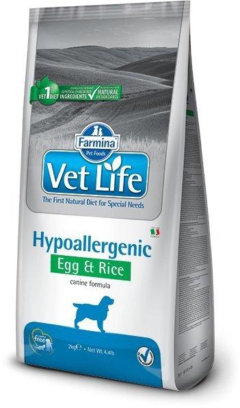Vet Life Dog Hipoallergenic Egg & Rice 2kg