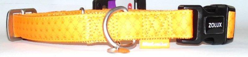 Obroża regulowana Mac Leather 20mm pomarańczowym