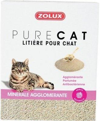 Zolux Pure Cat - Żwirek mineralny dla kota - zbrylający, antybakteryjny 10l x 4 szt