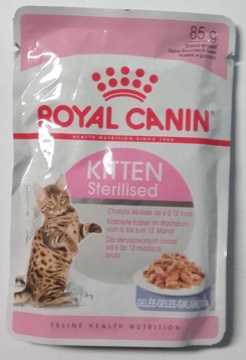 Royal Canin Kitten Sterilised w galaretce 12x85g
