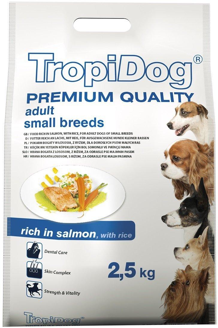 Tropidog Premium Adult Small Breeds - Łosoś z ryżem 2,5kg