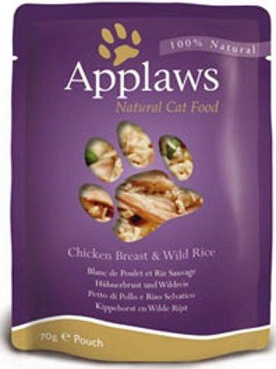 Applaws saszetka dla kotów Kurczak & Dziki ryż 12x70g