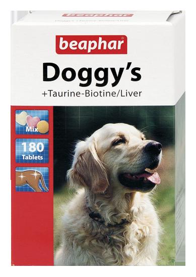 Beaphar Doggy's Mix - witaminowy przysmak tauryna- biotyna/wątróbka 180szt