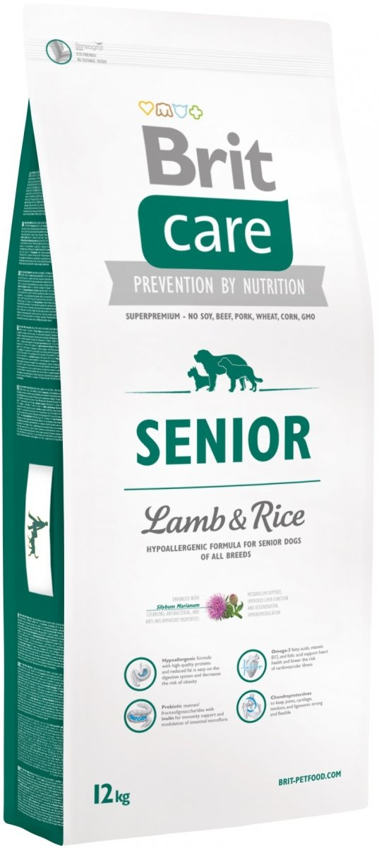 Brit Care N Senior Lamb 35% & Rice 12kg