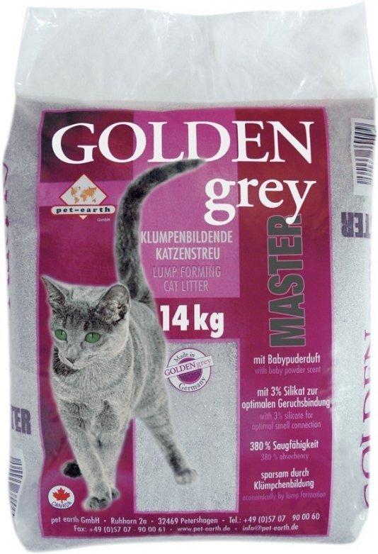 Golden Grey Master samozbrylający żwirek bentonitowy o zapachu pudru 14kg