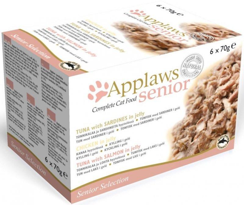 Applaws Multipack puszek Senior Selection 4 smaki - 6x70g
