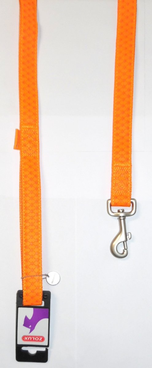 Smycz Mac Leather 15mm/1,2m pomarańczowa