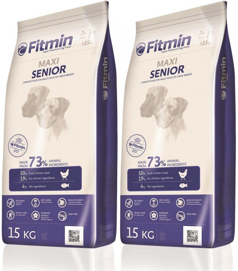 Fitmin Program Maxi Senior - karma dla starszych psów dużych ras 2x15kg (30kg)