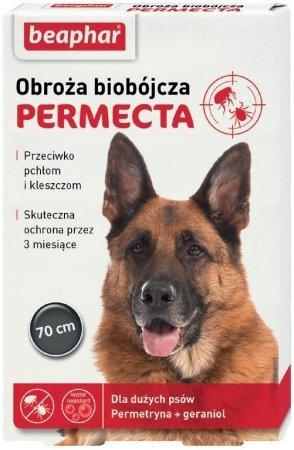 Beaphar Permecta Obroża biobójcza dla duzych psów przeciw pchłom i kleszczom