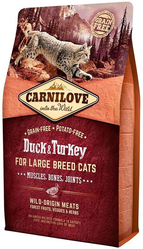 Carnilove Cat Large Breed Duck & Turkey - dla kotów dorosłych dużych ras 2kg