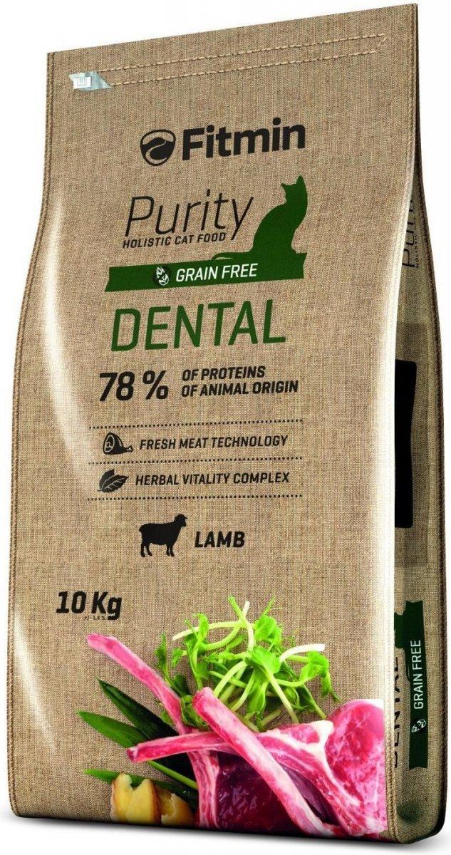 Fitmin Purity Dental - karma z jagnięciną dla kotów na zęby 2x10kg (20kg)