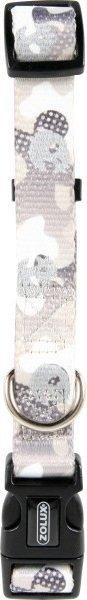 Zolux Obroża regulowana z motywem Camo 15mm - szara