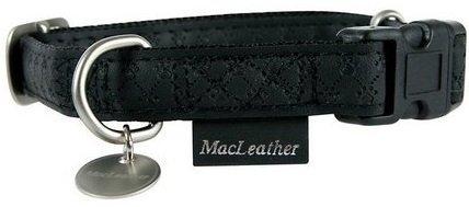 Zolux Obroża regulowana Mac Leather 20mm czarna