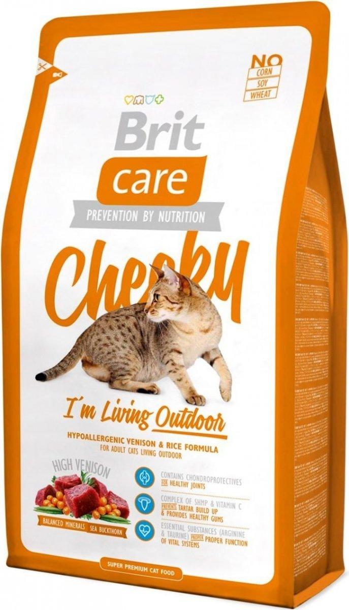 Brit Care Cat Cheeky I'm Living Outdoor - Dziczyzna z ryżem 2kg
