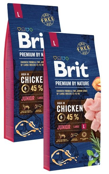 Brit Premium By Nature Junior Large 2x15kg