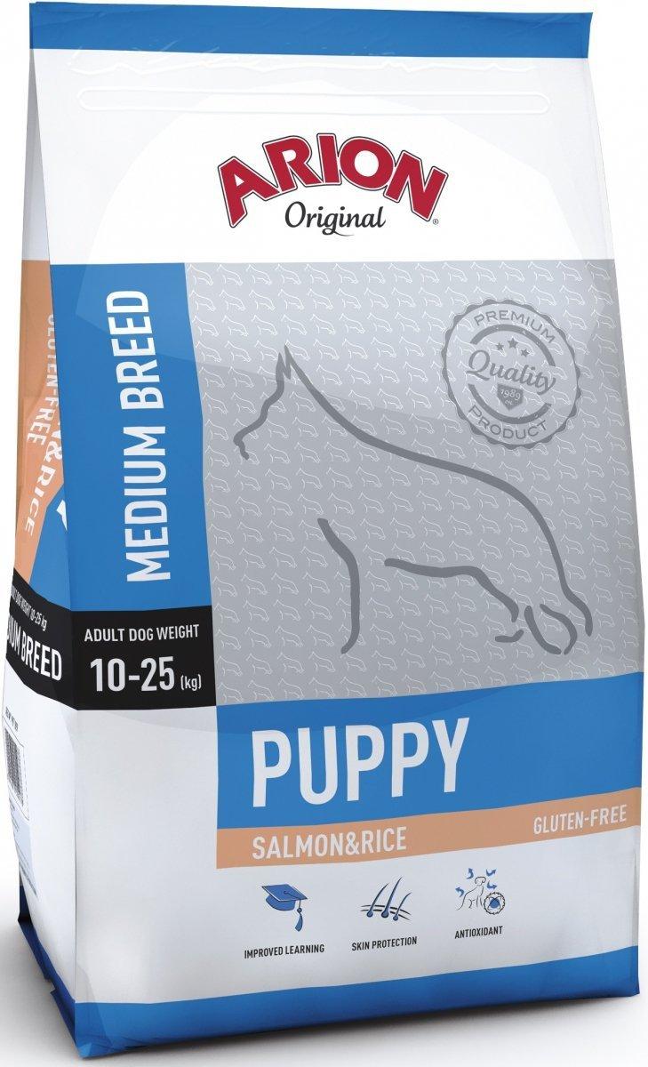 Arion Original Puppy Medium - Łosoś z ryżem 3kg