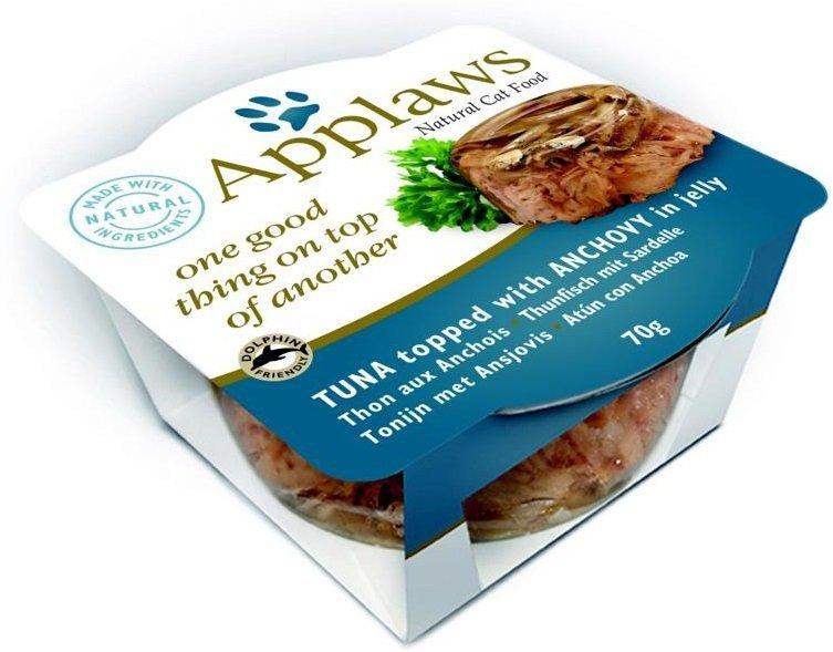 Applaws Filet z tuńczyka z anchois w galaretce 12x70g