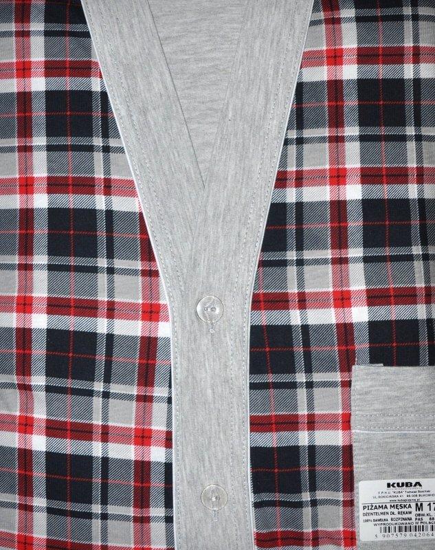 Piżama Kuba Dżentelmen dł/r L-2XL Rozpinana męska