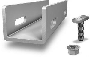 K2 zestawy zlaczy do polaczenia dwóch szyn aluminiowych typu Crossrail (w tym 4 sruby z nakretami)