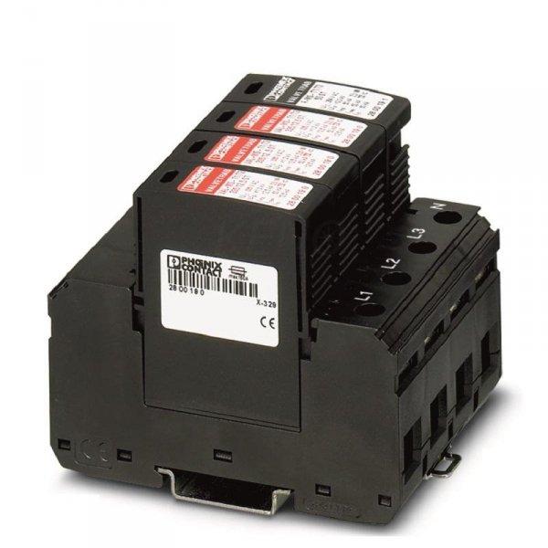 Ogranicznik przepięć AC Typ 1+2, 3-Fazy, Phoenix, OCHRONA VAL-MS-T1/T2 335/12,5/3+1