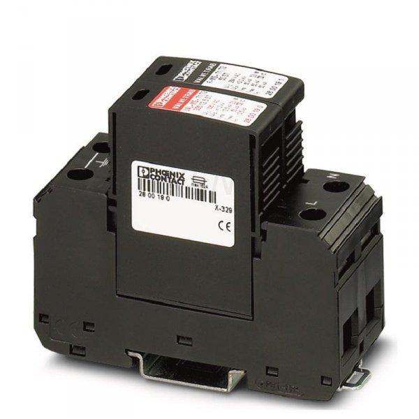 Ogranicznik przepięć AC Typ 1+2, 1-Faza, Phoenix, OCHRONA VAL-MS-T1/T2 335/12,5/1+1