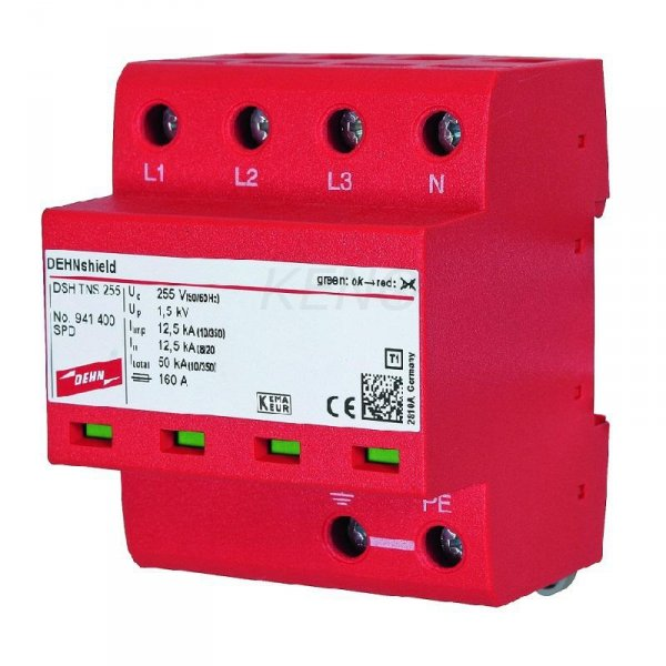 Ogranicznik przepięć AC DEHNshield TNS 255, 4P Typ I+II