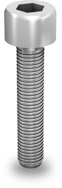 K2 Śruba imbusowa, M8x40 (stal nierdzewna 'A2') z ząbkowaniem (nie wymaga podkładki)