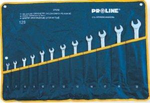 Klucze płasko-oczkowe odgięte 6-22 12 Szt Proline