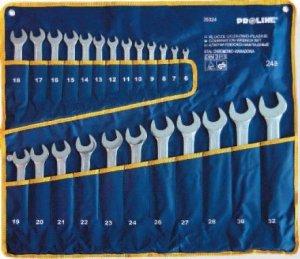 Klucze płasko-oczkowe 6-32 24 Szt Proline DIN3113