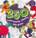 250 kolorowanek, łamigłówek, rebusów. Część 1