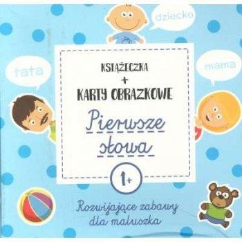 Pierwsze słowa. Rozwijające zabawy dla maluszka książeczka + karty obrazkowe (1+)