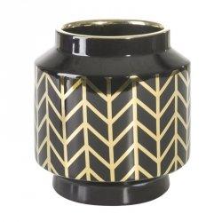 Wazon dekoracyjny  EMERA1 18X19 Czarny+Złoty