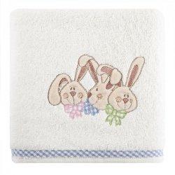 Ręcznik dziecięcy BABY7 Krem Niebieski 50X90 450gsm