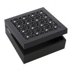 Pudełko ROSE 01 Czarne 16X16X6