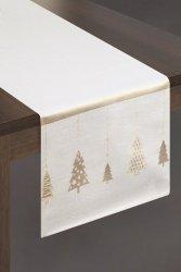 Obrus CHRIS Świąteczny 40X180 Kremowo Złoty