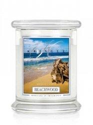 Kringle Candle - Beachwood - średni, klasyczny słoik (411g) z 2 knotami