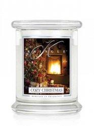 Kringle Candle - Cozy Christmas - średni, klasyczny słoik (411g) z 2 knotami