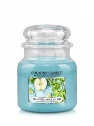 Country Candle - Cilantro, Apple & Lime -  Średni słoik (453g) 2 knoty