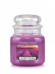 Country Candle - Country Lavender -  Średni słoik (453g) 2 knoty
