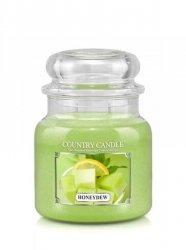 Country Candle - Honeydew - Średni słoik (453g) 2 knoty