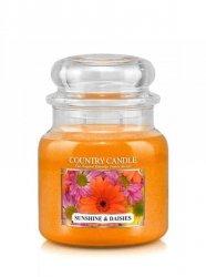 Country Candle - Sunshine & Daisies - Średni słoik (453g) 2 knoty