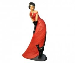 Home Decor - Figura  Dama z kotem