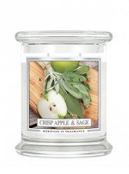 Kringle Candle - Crisp Apple Sage - średni, klasyczny słoik (411g) z 2 knotami