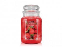 Country Candle - Strawberry Fields - Duży słoik (680g) 2 knoty
