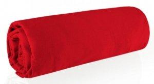 Prześcieradło JERSEY 100X200 z gumką Czerwone Eurofirany